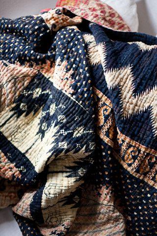 Kantha Blanket - So cozy!