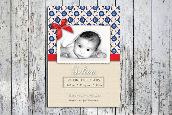Hey, I found this really awesome Etsy listing at https://www.etsy.com/listing/259779281/birth-announcement-printable-customized