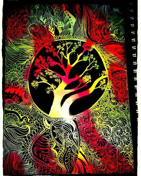 Mandala colourful tree