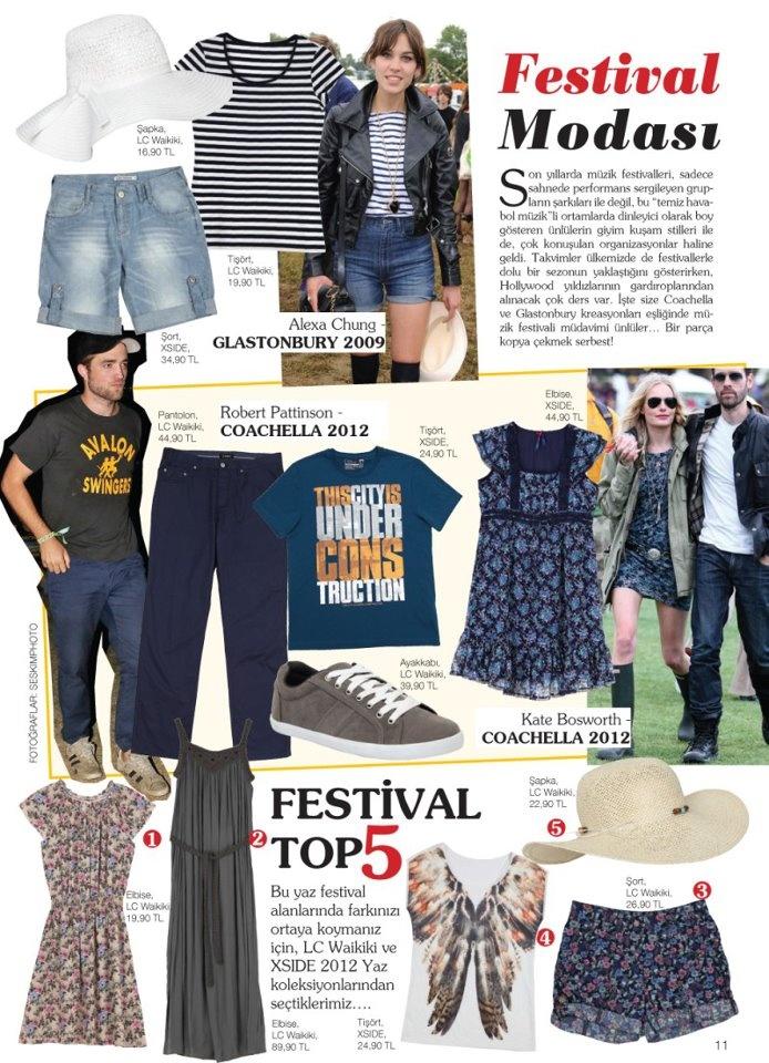 Yaz aylarında tüm dünya festivallerle coşuyor, ünlülerin tarzları bu coşkuya damgasını vuruyor. Festival modasını LCWORLD ile yakalayın, eğlenceyi şıklığınızla tamamlayın. http://on.fb.me/LCWORLD