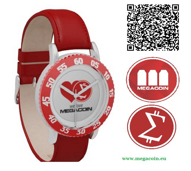 Megacoin red watch. #megacoin #watch #altcoin #cryptocurrency