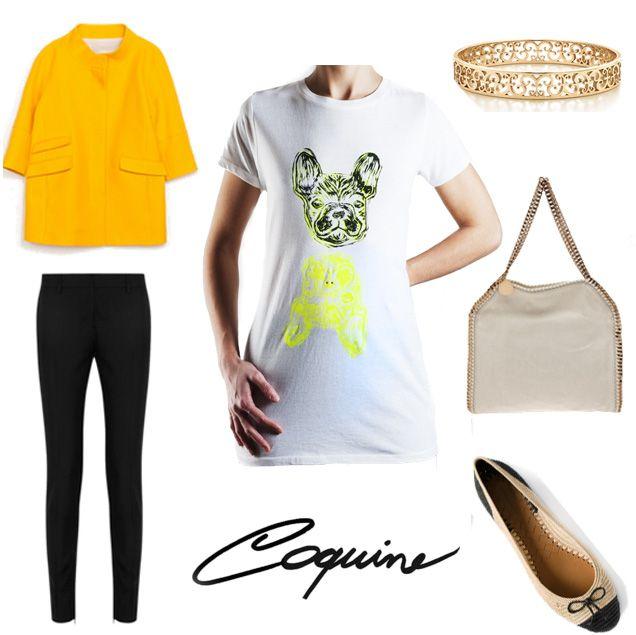 T shirt Bulldog Coquine