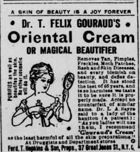 "August 20, 1914 newspaper advertisement for ""oriental cream or magical beautifier"" #magical #beautifier #newspaperclippings #oldnewspapers #interestinghistory"