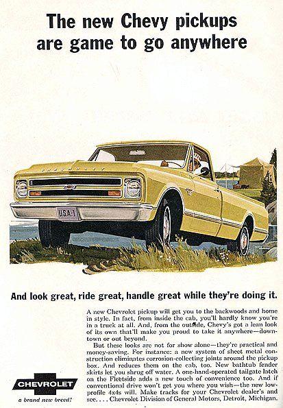 1967 Chevrolet truck Ad.