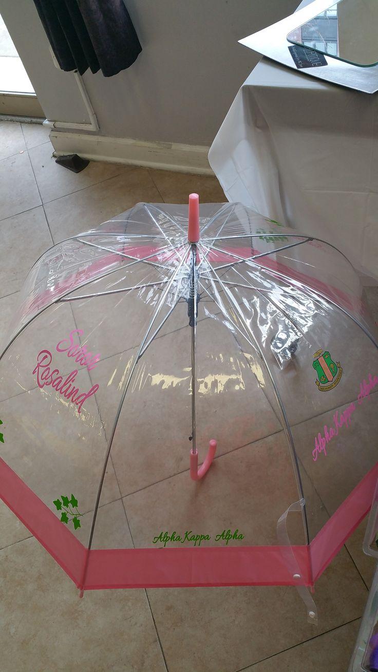 Alpha Kappa Alpha custom umbrella (with your name) www.sororitique.com