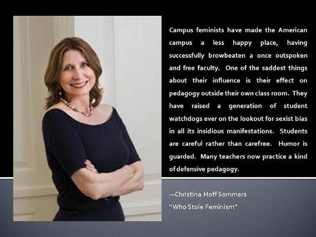 Dr. Christina Hoff Sommers, Living Goddess. Finally a feminist with a brain. It's rare nowadays.