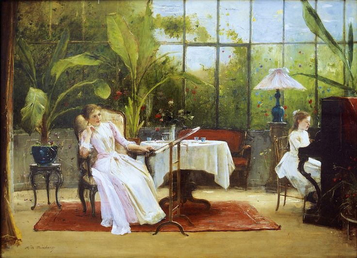 Piano Lesson, Mihály Munkácsy