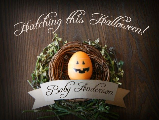 Katie-Did: Easter/Halloween Baby Announcement!