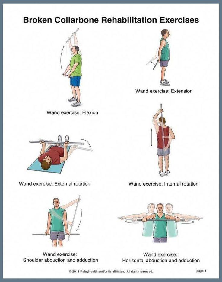 Broken collarbone rehabilitation exercises. Lost