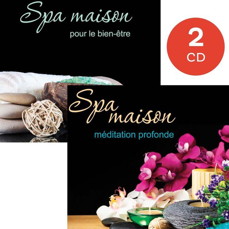 Spa maison pour le bien-être/Méditation profonde - Instrumental - 2 CD - Nombre de titres : 20 titres - Référence : 83347 #CD #Musique #Relaxation