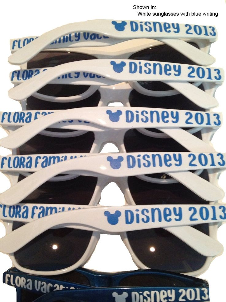 Family Vacation Sunglasses, Disney Vacation, Mickey Mouse Accessories, Disney Cruise, Birthday Party Favor, Family Reunion, Disney Party by PersonalizedMom on Etsy https://www.etsy.com/listing/158062238/family-vacation-sunglasses-disney