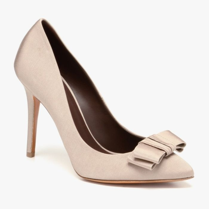 Soft Beige Bow Heel