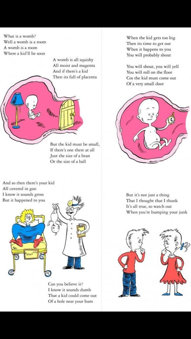 Dr. Suess pregnancy instructions!