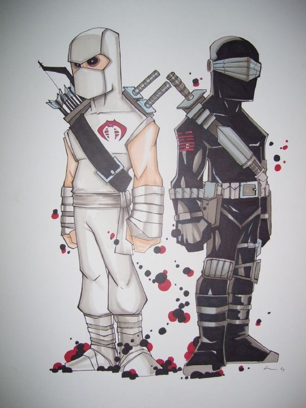 Storm Shadow & Snake Eyes - G.I. Joe - Chris Uminga