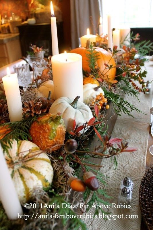 Thanksgiving table | Centerpiece | Wooden box centerpiece | Pumpkins