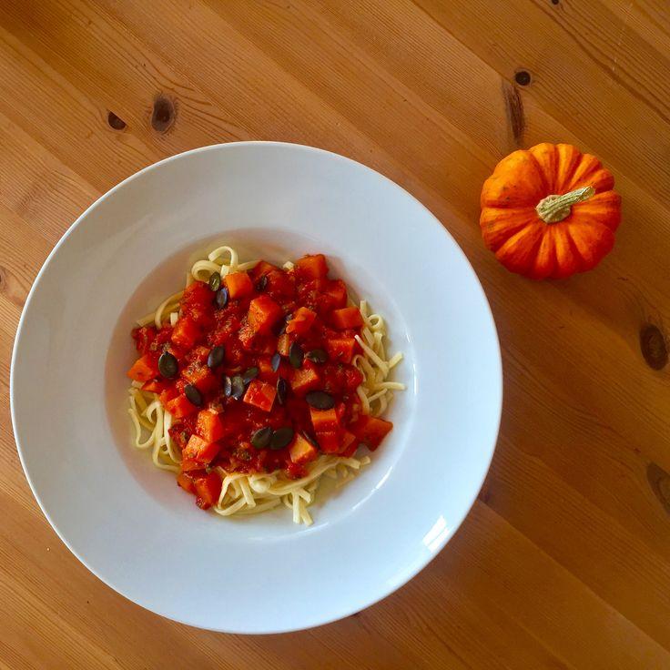 Autumn Pasta with Pumpkin Sauce