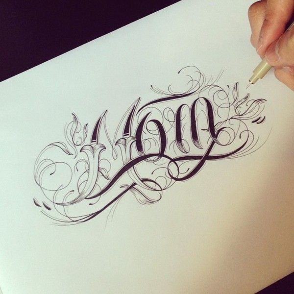 Mom | Raul Alejandro -- http://www.typographyserved.com/gallery/Hand-Type-Vol-3/8883913