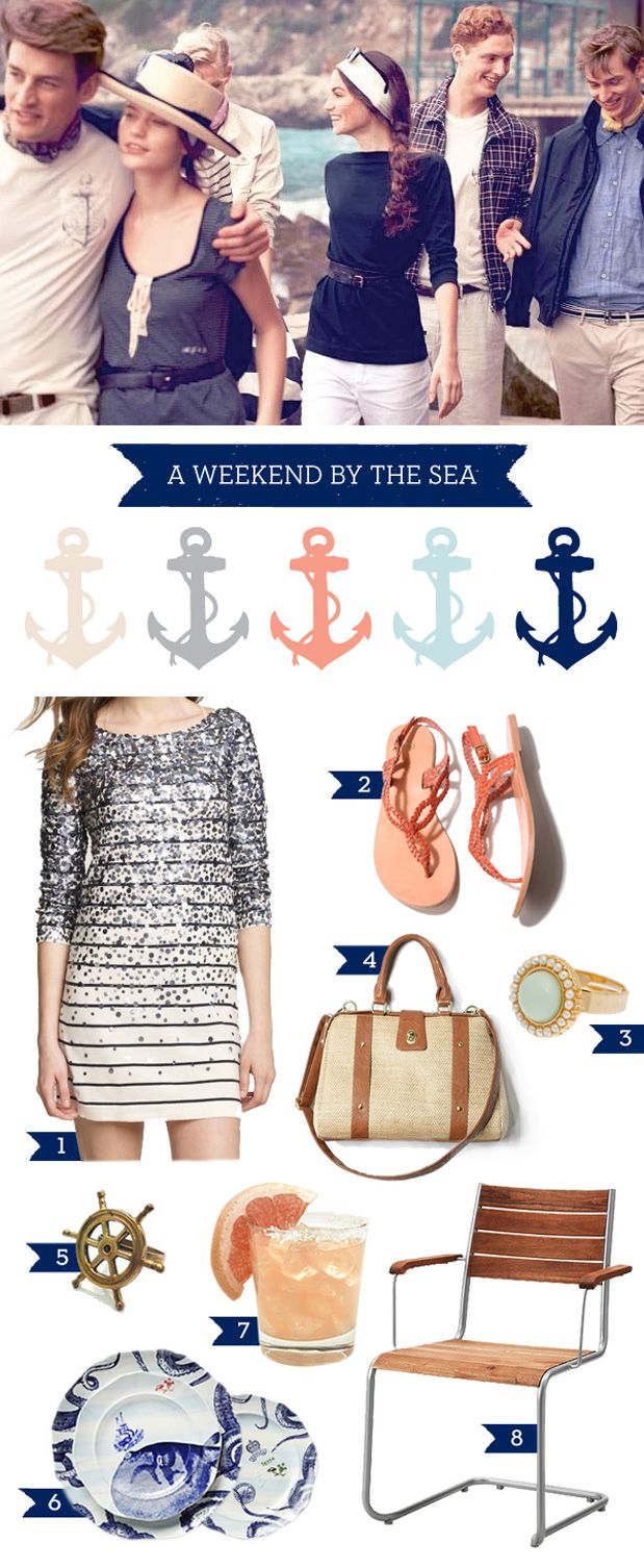 If only I had a boat instead of working for people who do. I ♥ Navy & Coral.