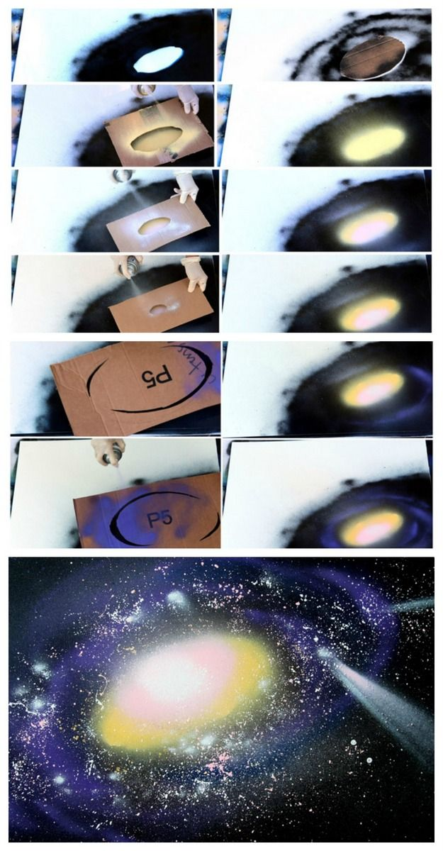 how to spray paint galaxy
