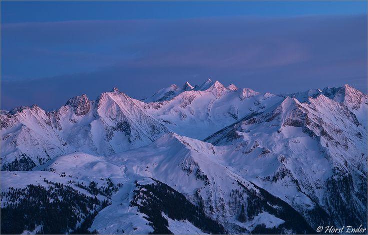 3000er Abend Alpen Berge Blaue Stunde Gebirge Hochgebirge Kälte Schnee Skibergsteigen Stille Tirol Winter Zillertal