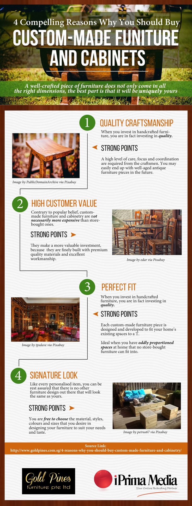 Today, there is a new costumers preference for custom-made furniture and cabinets in Singapore. From mass produced furniture, buyers' preference has shifted to to custom built furniture and cabinetry. Here are 4 compelling reasons, why a custom-made furniture and cabinet is worth your investment.   You can read up on the full article here http://www.goldpines.com.sg/4-reasons-why-you-should-buy-custom-made-furniture-and-cabinetry/