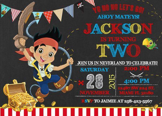Jake y lo piratas de nunca jamás invitación por LuckyPixel en Etsy