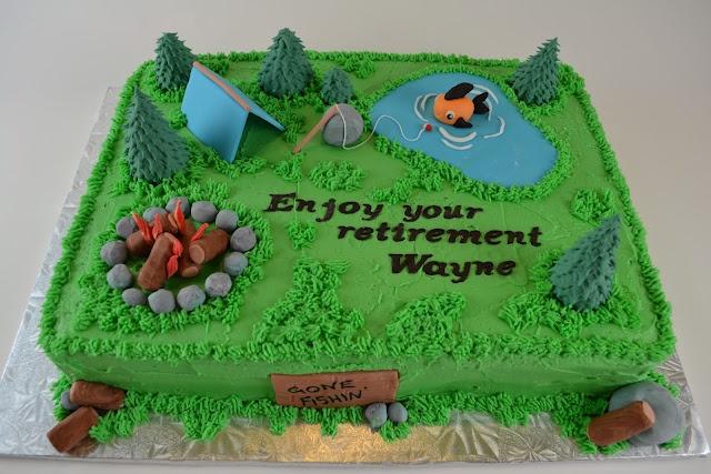 Fishing/camping retirement cake :)