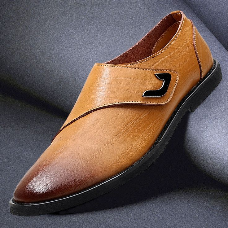 Men Vintage Hook-Loop Soft Breathable Business Dress Casual Shoes Online - NewChic Mobile.