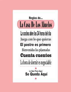Reglas De La Casa De Los Abuelos Para Imprimir Gratis