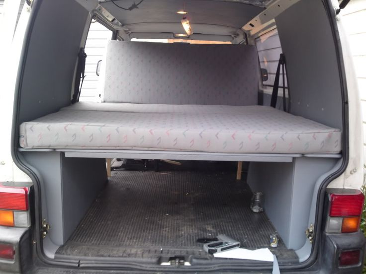 kombi camper build with wheel arch boxes and rear seat. Black Bedroom Furniture Sets. Home Design Ideas