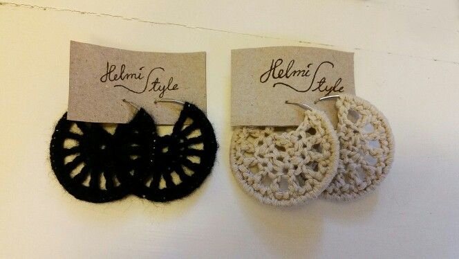 Lovely Finnish handmade crochet earrings, please check my facebook page facebook.com/helmistyle ! :)
