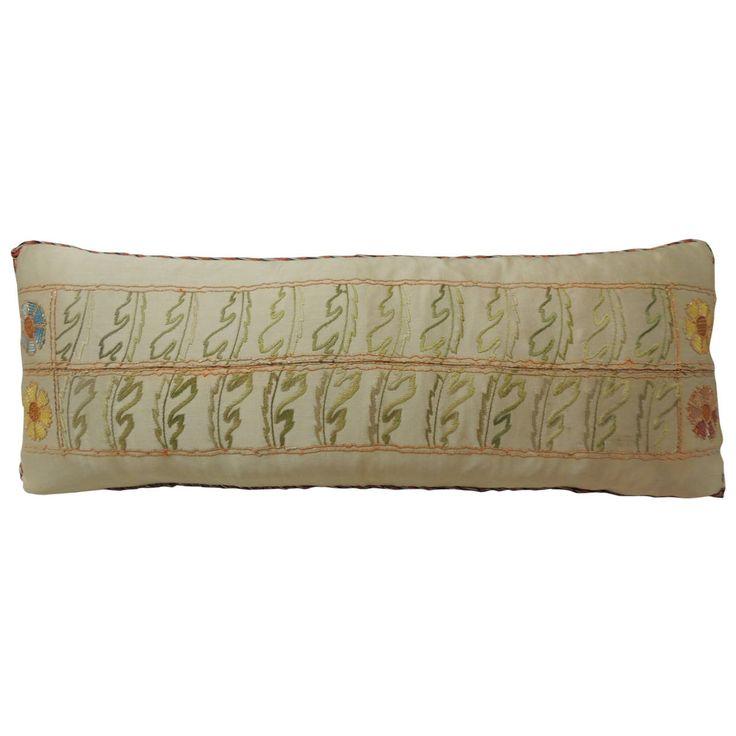 Modern Bolster Pillows : Antique Silk Turkish Embroidery Bolster Pillow Bolster pillow, Pillows & throws and Modern ...