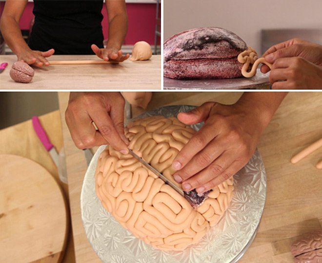 Comment faire un gâteau en forme de cerveau pour Halloween ? Le résultat est bluffant !