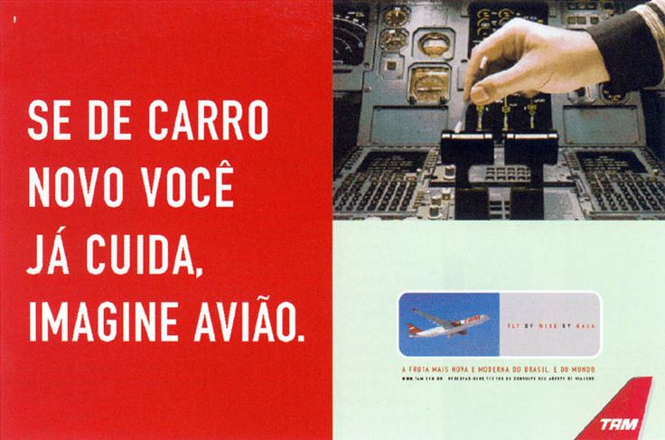 Read more: https://www.luerzersarchive.com/en/magazine/print-detail/tam-airlines-16811.html TAM  Airlines If you take good care of your new car, just imagine what we do with our airplanes. Claim: Tam. The newest and most modern airline fleet of Brazil. And the world. Tags: Richard Kohout,Jáder Rossetto,Pedro Cappeletti,TAM  Airlines,DM9DDB, São Paulo
