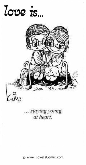 Love is... staying young at heart.