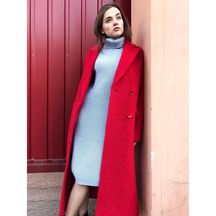 Сочетание красного и голубого от Jana Segetti #janasegetti #fashion #style #shopping #streetstyle #inspiration