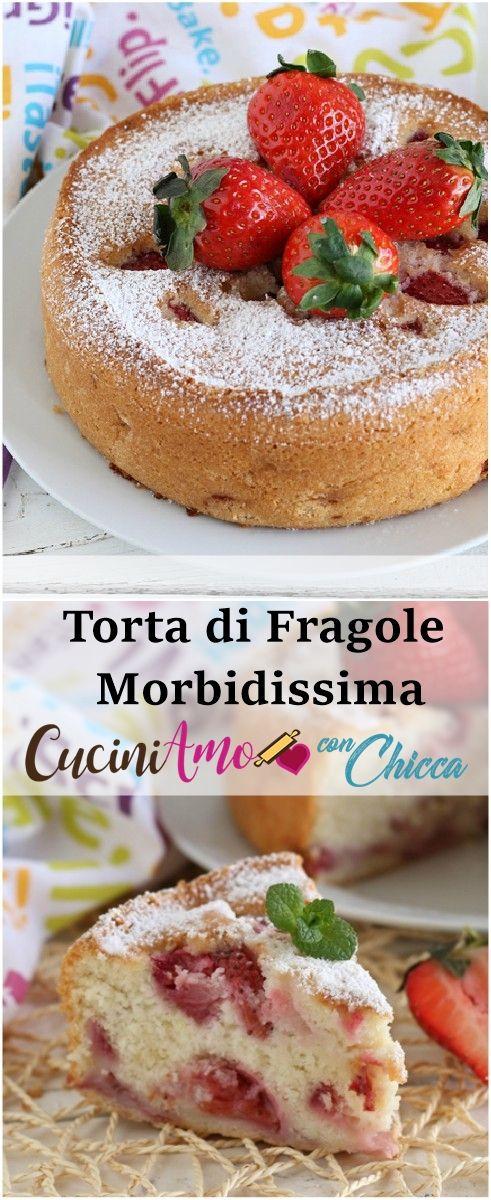 TORTA DI FRAGOLE SENZA LATTOSIO morbidissima si scioglie in bocca  #senzalattosio #ricetta #fragole
