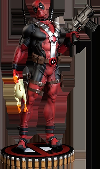 Sideshow Deadpool Premium Format Figure... The rubber chicken stuffed with TNT seals the deal O.o