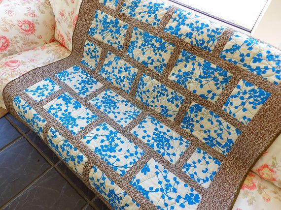 City style quilt throw lap quilt modern by SlaneyHandCraft on Etsy