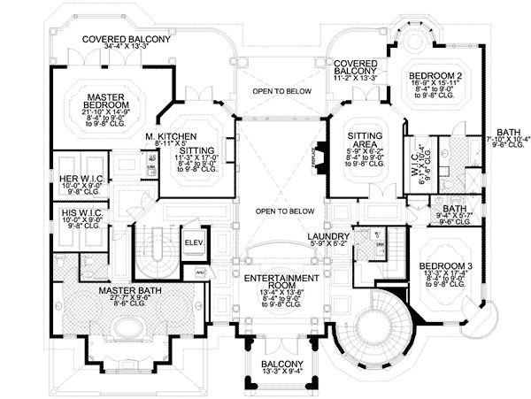 plan 32075aa master suite with morning kitchen - Home Design Blueprints