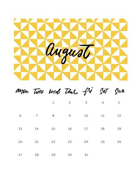ağustos 2018 august printable