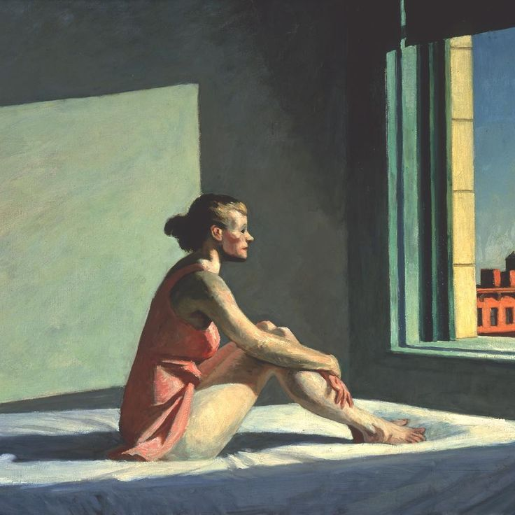 Vandaag is het 93 jaar geleden dat Edward Hopper met zijn Josephine trouwde. Josephine Nivison, hier afgebeeld in het werk 'Morning Sun' (1952), leerde de Amerikaanse schilder kennen aan de New York School of Art, maar kreeg pas een relatie met Hopper in de zomer van '23. Het stel trouwde op 9 juli 1924 in New York. 'Jo' was zelf schilder en bedacht regelmatig titels voor Hoppers schilderijen (waaronder zijn beroemde 'Nighthawks'). Na hun huwelijk werd Jo zijn enige model. Zo poseerde ze…