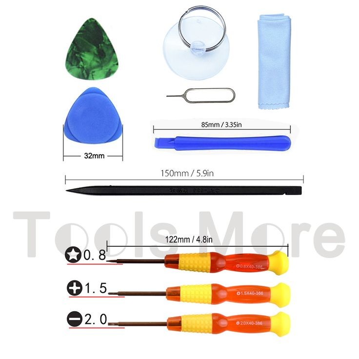 10Pcs Pentalobe 0.8 Slotted 2.0 Phillips 1.5 Precision Screwdriver Set Opening Repair Tools Kit Pry Bar for iPhone PC Repair