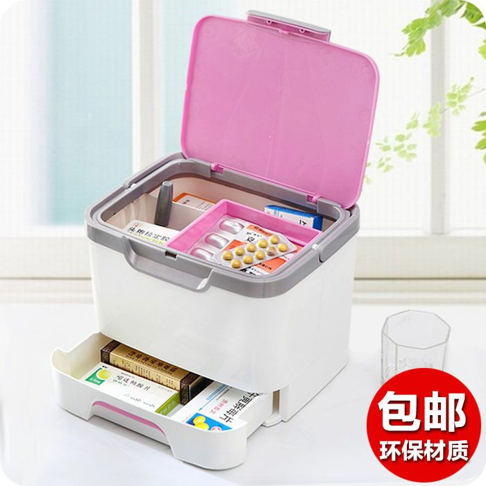 Family medicine drawer storage box free shipping fashion portable medicine chest with a large capacity storage with Bao Jianxian-in Storage Boxes & Bins from Home & Garden on Aliexpress.com   Alibaba Group