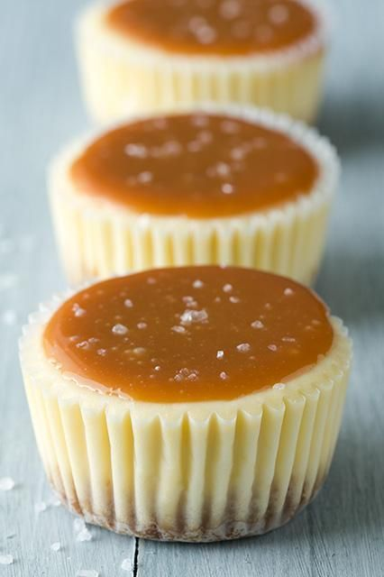 Salted Caramel Cheesecake Cupcakes | Foods, Drinks & Recipes  * replace graham crackers with crushed almonds * replace APF with almond or coconut flour.