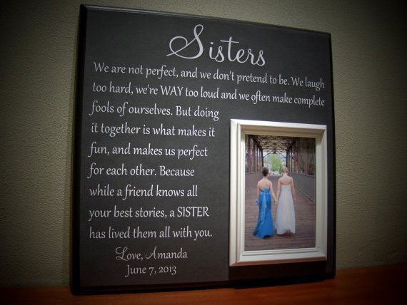 Perfect Wedding Gift For Sister: Best 25+ Sister Wedding Gifts Ideas On Pinterest