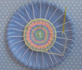 Plate and yarn woven circle