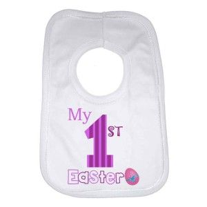My First Easter Girls Baby Bib