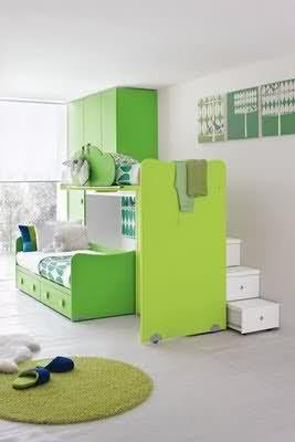 green kids bedroom furniture design