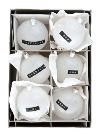 Personalized ornaments.